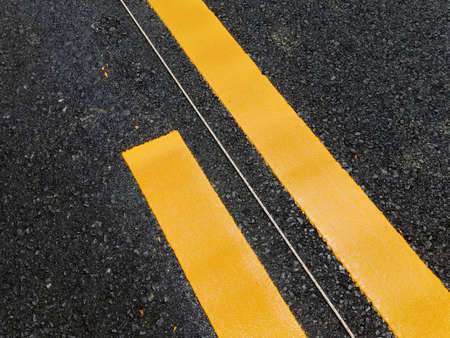 Yellow traffic line color For the safety of traveling in thailand