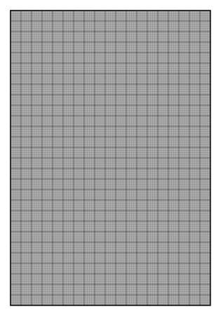 7x10 inch grid paper used in advertising media design