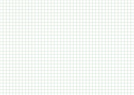 A3 size chart paper with 1 cm green grid lines. Archivio Fotografico