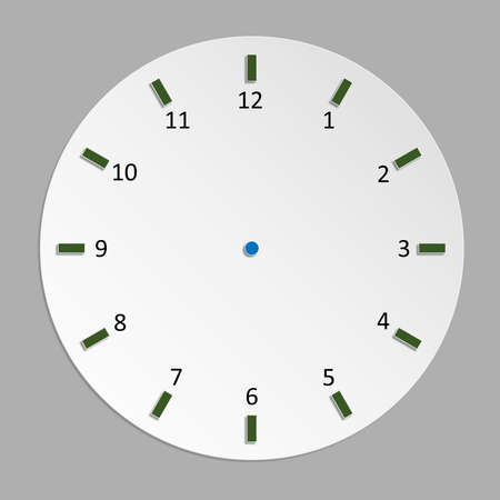 Round clock style Used in advertising design work