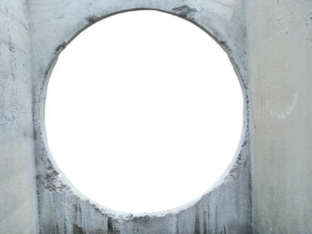 Picture hole for reinforced concrete wall of manhole and sewer 版權商用圖片