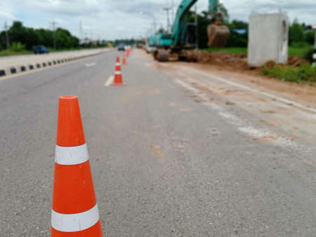 Facilitating road construction safety in thailand Archivio Fotografico
