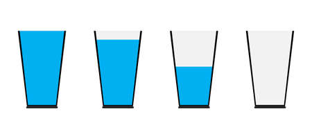 The level of water in a glass of water indicates wisdom and the fulfillment of knowledge.