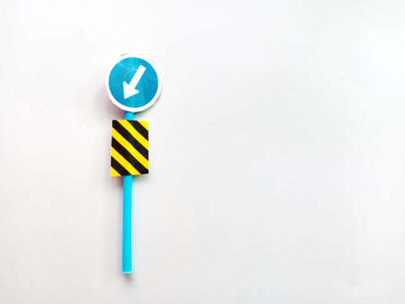 Traffic sign invention From paper cutting From waste materials