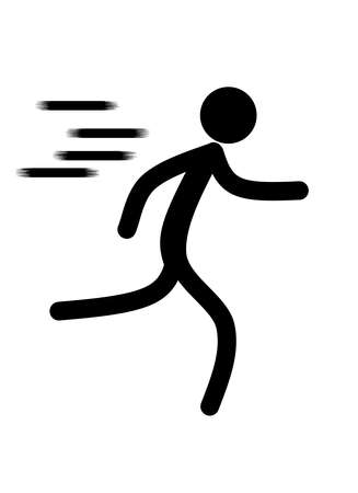 Man icon running fitness for health