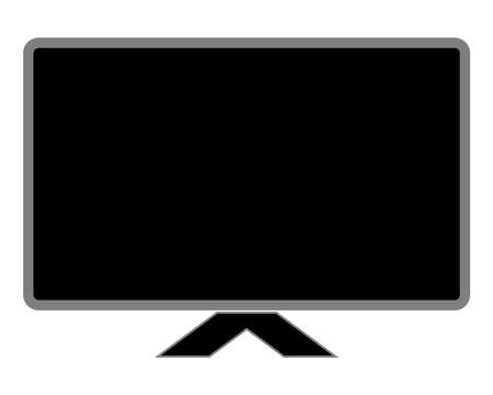 Black screen tv Used in product design