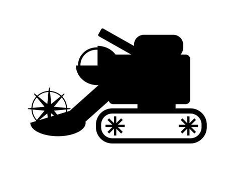 Agricultural machinery icon Used in crop harvesting work