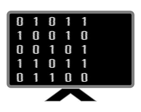 Black screen tv And digital numbers