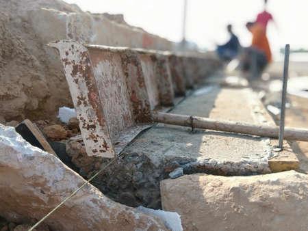 Blur Formwork Concrete Pavement Curb