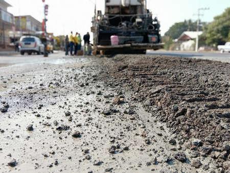 A blur of road maintenance work