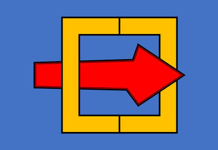 Arrows pasted through the rectangular boxes indicate endurance and overcome obstacles.