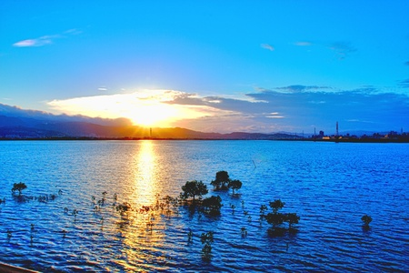 Sunrise at Wugu in Taipei Stock Photo - 9132608