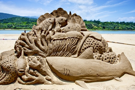 2011 Fulong Sand Sculpture Festival on May 31,Taiwan