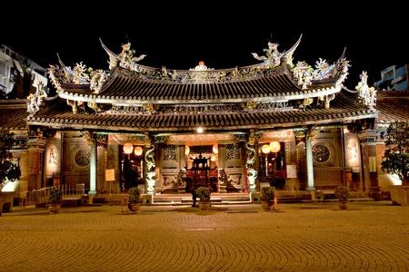 Baoan Temple,a famous buddha temple in Taipei photo