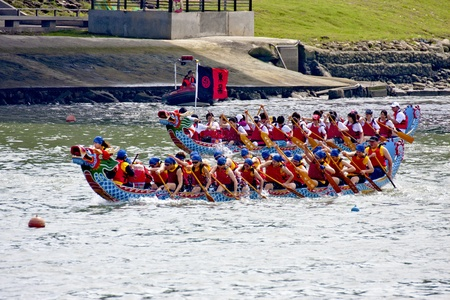 Taipei-June 5-Dragon boat Festival on June 5,2011 in Taiwan Editorial