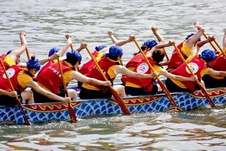 Taipei-June 5-Dragon boat Festival on June 5,2011 in Taiwan Editorial