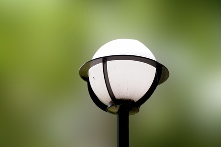 imagery: street light mixed with green Stock Photo