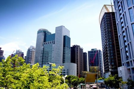 skyscraper buildings city of Taipei Taiwan