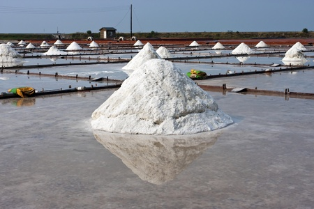 beautiful landscape of a summer with a salt farm in Tainan Stock Photo - 11368452