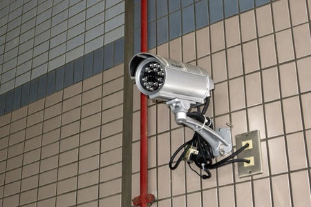 Security camera in the public place of buildings Stock Photo - 11393955