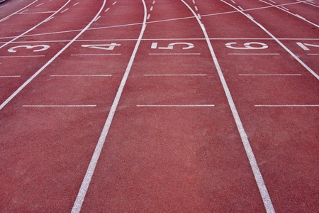 perspective of running track lane