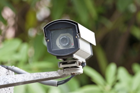 security camera on wall in public space Stock Photo - 13054897