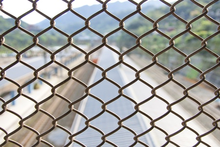 Chain Fence as background and texture Stock Photo - 13066439