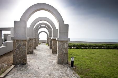 seen of classic corridor statue in Taiwan photo