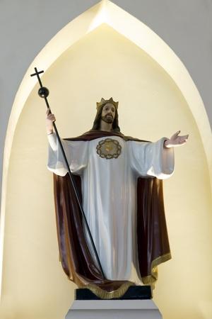 holy statue jesus christ inside a catholic church Stock Photo - 13054813