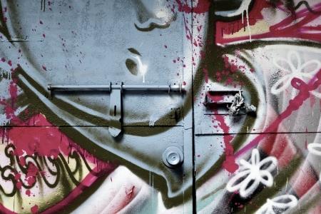 Graffiti door in Taipei