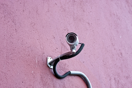 security camera set on the wall in Taiwan Stock Photo - 14740761
