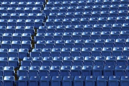 baseball stadium: close view of seats of stadium