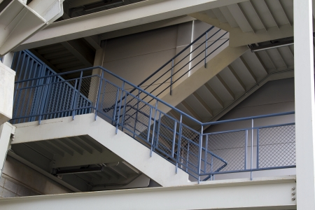 emergency exit staircase of the stadium Stock Photo - 16123504