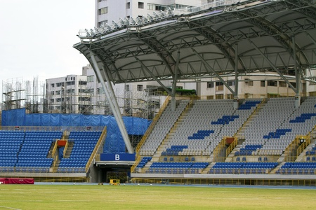corner view of seats of stadium