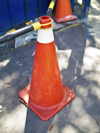 safty warning barrier in a construction site Stock Photo - 16123952