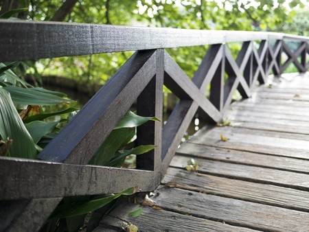 wooden fence in the garden Stock Photo - 16530128