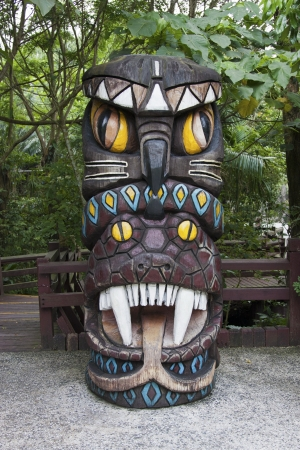Taiwanese aboriginal totem in the park