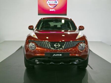 TAIPEI,TAIWAN -December 21 : new car of Nissan Juke in 2013 New Car Exhibition in Taipei world trade center on December 21,2012 in Taipei,Taiwan Stock Photo - 17051417