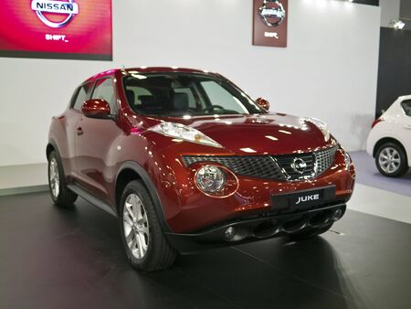 TAIPEI,TAIWAN -December 21 : new car of Nissan Juke in 2013 New Car Exhibition in Taipei world trade center on December 21,2012 in Taipei,Taiwan Stock Photo - 17051419