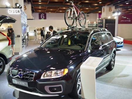 TAIPEI,TAIWAN -December 21 : new car of volvo xc70 in 2013 New Car Exhibition in Taipei world trade center on December 21,2012 in Taipei,Taiwan