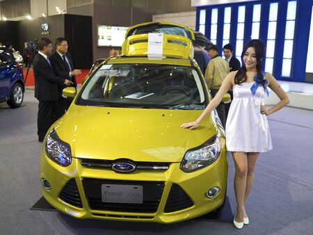 TAIPEI,TAIWAN -December 21 : new car of ford focus in 2013 New Car Exhibition in Taipei world trade center on December 21,2012 in Taipei,Taiwan Stock Photo - 17051434