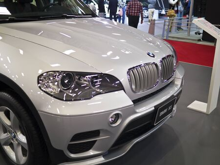 TAIPEI,TAIWAN -December 21 : new car of BMW x5 in 2013 New Car Exhibition in Taipei world trade center on December 21,2012 in Taipei,Taiwan Stock Photo - 17051429