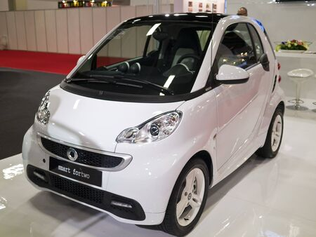 TAIPEI,TAIWAN -December 21 : new car of mercedes benz smart fortwo in 2013 New Car Exhibition in Taipei world trade center on December 21,2012 in Taipei,Taiwan Stock Photo - 17051425