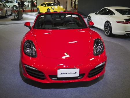 TAIPEI,TAIWAN -December 21 : new car of porche boxster s in 2013 New Car Exhibition in Taipei world trade center on December 21,2012 in Taipei,Taiwan Stock Photo - 17051433