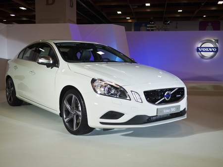 TAIPEI,TAIWAN -December 21 : new car of volvo s60 in 2013 New Car Exhibition in Taipei world trade center on December 21,2012 in Taipei,Taiwan Stock Photo - 17051422