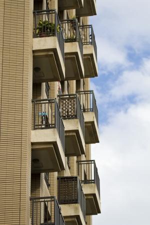 balcony on building in Taiwan photo