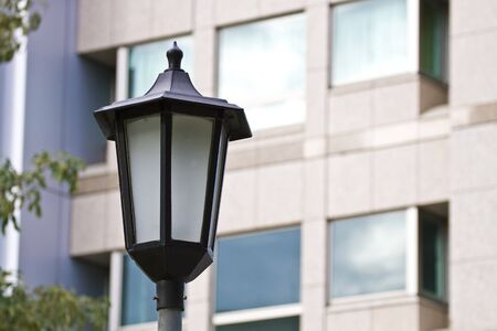 close view of a street lamp photo