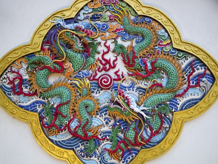 taiwanese traditional wall sculpture in bao an temple Stock Photo - 17244203