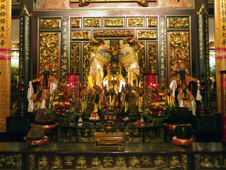 chinese god statue in bao an temple Stock Photo - 17228963