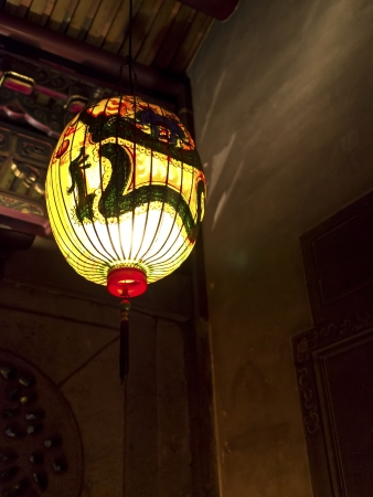 asia traditional religious lantern in bao an temple photo